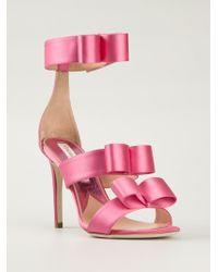 Vivienne Westwood Satin Bow Detail Sandals - Lyst