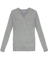 Tomas Maier V-Neck Cashmere Sweater gray - Lyst