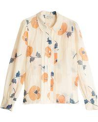 Paul & Joe Silk Shirt beige - Lyst