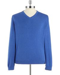 Calvin Klein V-Neck Sweater blue - Lyst