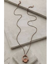 Shashi Copper Eclipse Necklace - Lyst