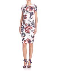 Carolina Herrera | Roses & Dots Cloque Dress | Lyst