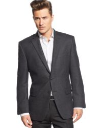 Calvin Klein Black and Grey Sport Coat - Lyst