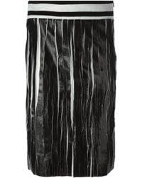 Damir Doma 'Raal' Teared Effect Skirt black - Lyst