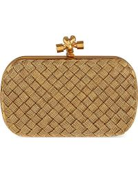 Bottega Veneta Intrecciato Satin Knot Clutch Bag - For Women - Lyst