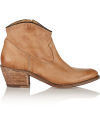 NDC Santa Monica Distressed-Leather Ankle Boots - Lyst