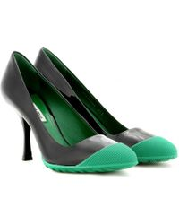 Miu Miu Patent-leather Pumps with Rubber - Lyst