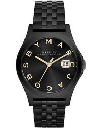 Marc By Marc Jacobs Ladies Slim Black Bracelet Watch - Lyst