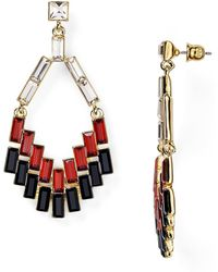 ABS By Allen Schwartz - Geometric Chandelier Earrings - Lyst