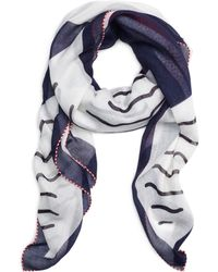 Brooks Brothers Cotton And Silk Sailboat Scarf - Lyst