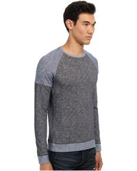 Vince Ls Color Blocked Crew Neck - Lyst