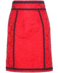 Dolce & Gabbana Brocade Pencil Skirt - Lyst