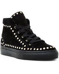 Laurence Dacade   Hugh Black Studded Velvet Sneakers   Lyst