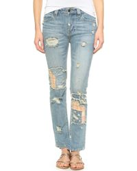 Free People Patchwork Jeans - Patchwork blue - Lyst