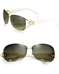 Gucci Open Temple Oval Sunglasses - Lyst
