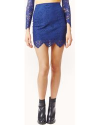 For Love And Lemons Midnight Lace Mini Skirt - Lyst