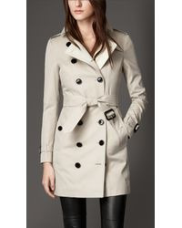 Burberry Gabardine Trench Coat With Warmer - Lyst
