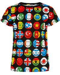 Moschino World Flags Smiley T-Shirt - Lyst