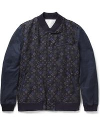 White Mountaineering Patternpanel Bomber Jacket - Lyst