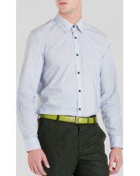 Ted Baker Pow Micro Swirl Print Sport Shirt - Lyst