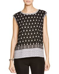 Two By Vince Camuto - Foulard Print Blouse - Lyst