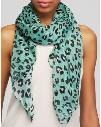 Helene Berman Leopard Print Silk Square Scarf - Lyst