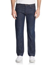 7 For All Mankind Standard Straight-Leg Jeans - Lyst