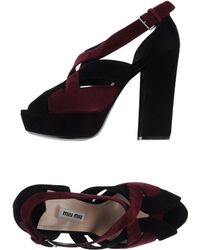 Miu Miu Purple Sandals - Lyst