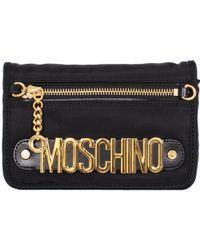 Moschino Black Nylon Pochette With Shoulder Strap black - Lyst