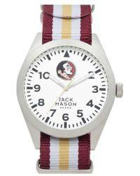 Jack Mason Brand - 'florida State Seminoles' Stripe Nato Strap Watch - Lyst