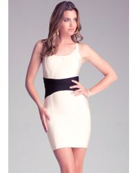 Bebe Bodycon Contrast Dress - Lyst