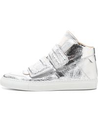 MM6 by Maison Martin Margiela | High Top Sneakers - Silver | Lyst