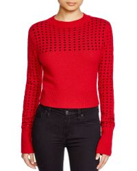 Misha Nonoo | Marion Perforated Wool Sweater | Lyst