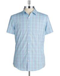 Calvin Klein Slim Fit Checkered Sportshirt - Lyst