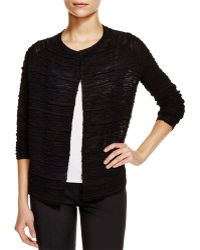 Eileen Fisher | Textured Open Front Cardigan | Lyst