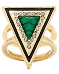 House Of Harlow Teepee Triangle Ring - Lyst