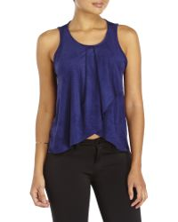Tyche - Faux Suede Top - Lyst