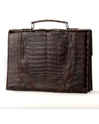 Anne Sisteron - Crocodile Briefcase - Brown Glazed - Lyst