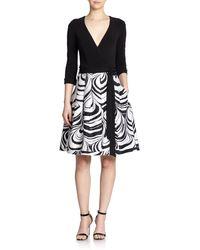 Diane von Furstenberg Jewel Cotton  Silk Wrap Dress - Lyst