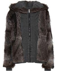 Haider Ackermann Reversible Cotton Jacket with Raccoon Fur - Lyst