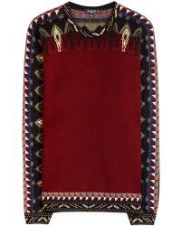 Etro Wool-Blend Sweater - Lyst