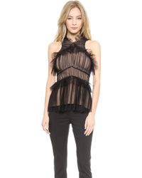 Vera Wang Collection - Tulle Draped Halter Top - Lyst