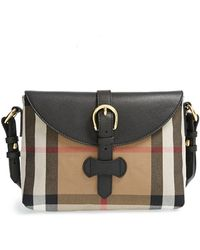 Burberry Milton Pebbled-Leather Cross-Body Bag - Lyst