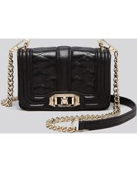 Rebecca Minkoff Crossbody - Mini Quilted Love with Gold Hardware - Lyst
