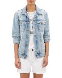 Current/Elliott The Oversized Trucker Jeans Jacket - Lyst