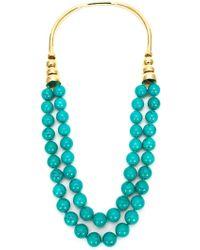 Aurelie Bidermann 'Lakotas' Necklace teal - Lyst
