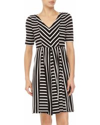 Maggy London Striped Fit-And-Flare Dress - Lyst