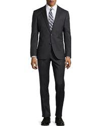 Hugo Boss Genius Ticweave Wool Suit - Lyst