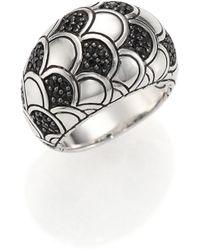 John Hardy Naga Black Sapphire & Sterling Silver Dome Ring - Lyst