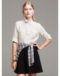 Banana Republic Soft-Wash Herringbone Military Shirt - Lyst